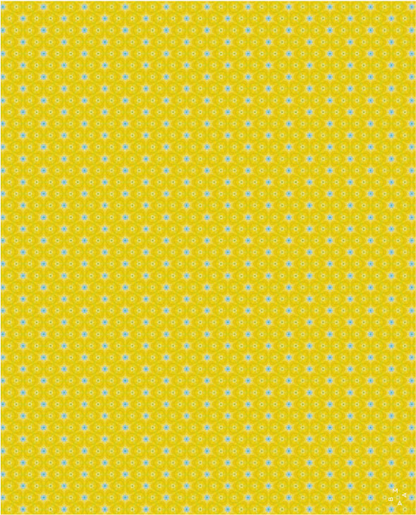 Pattern amarillo y azul celeste y poesía