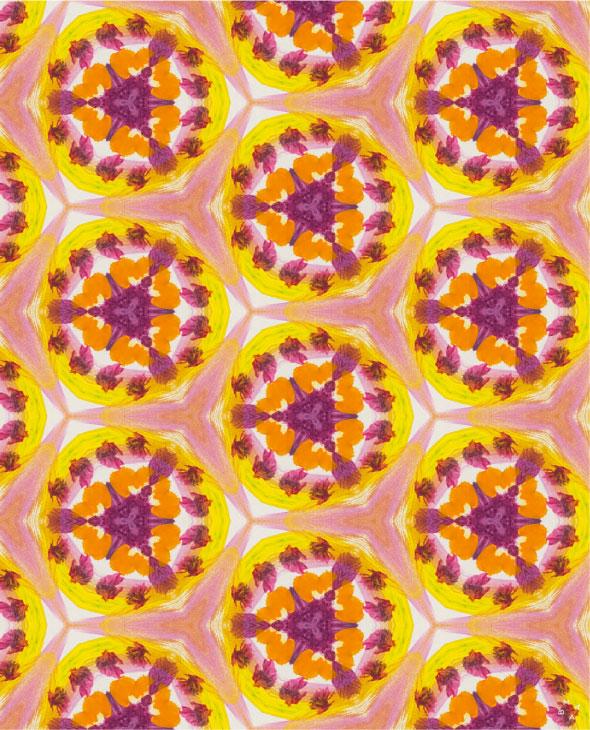 pattern digital multicolor y poesía de amabamaba
