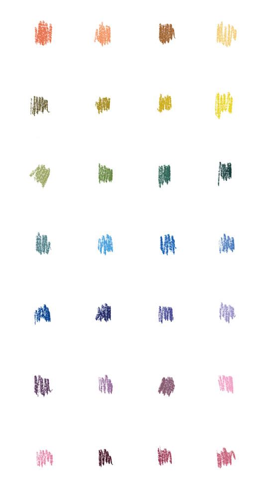 amabamaba garabatos multicolores gama cromática