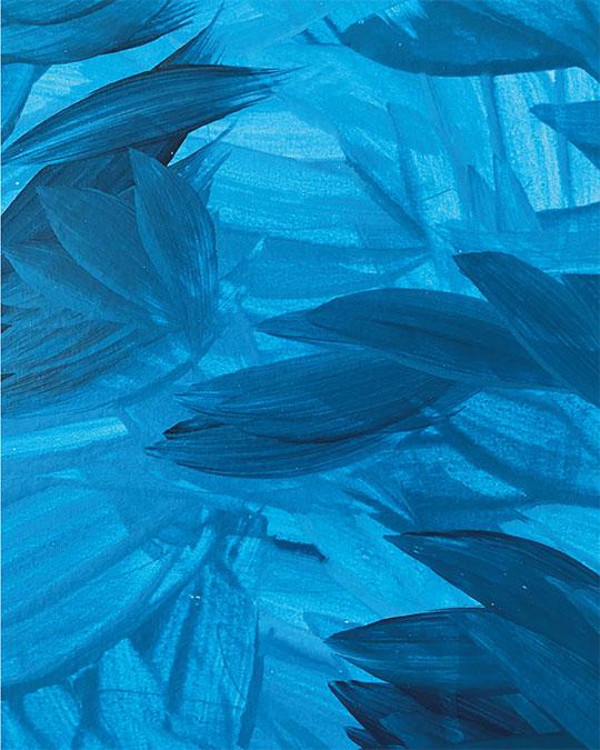 diferentes tonos de azul pintura abstracta acrílico sobre papel amabamaba